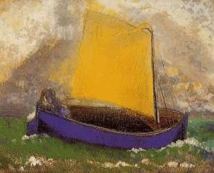 The Mysterious Boat — Одилон Редон
