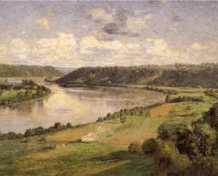 The Ohio river from the College Campus, Honover — Теодор Клемент Стил