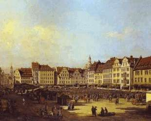 The Old Market Square in Dresden — Бернардо Беллотто