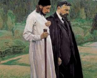 The Philosophers: Portrait of Sergei Bulgakov and Pavel Florenskiy — Михаил Нестеров