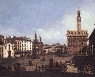 The Piazza della Signoria in Florence — Бернардо Беллотто