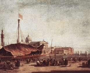 The Piazzetta, Looking toward San Giorgio Maggiore — Франческо Гварди