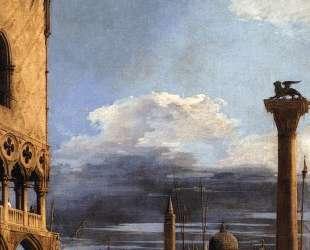 The Piazzetta towards San Giorgio Maggiore — Каналетто