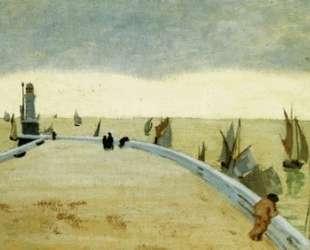 The pier of Honfleur — Феликс Валлотон