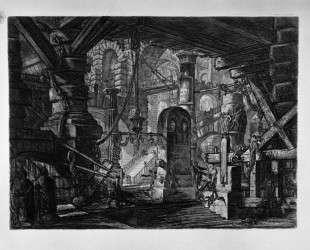 The Pier with Chains — Джованни Баттиста Пиранези
