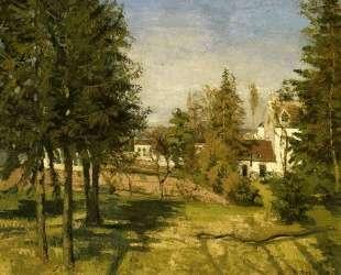 The Pine Trees of Louveciennes — Камиль Писсарро