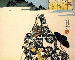 The poetess Ukon — Утагава Куниёси