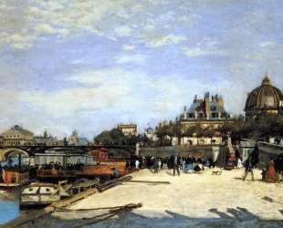 The Pont des Arts and the Institut de France — Пьер Огюст Ренуар