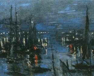 Порт в Гавре, ночной эффект — Клод Моне