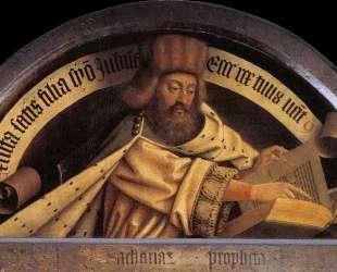 Пророк Захария и ангел Гавриил — Ян ван Эйк