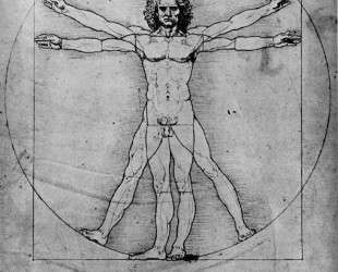 The proportions of the human figure (The Vitruvian Man) — Леонардо да Винчи
