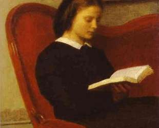 The Reader (Marie Fantin Latour, the Artist's Sister) — Анри Фантен-Латур