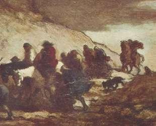 Беженцы — Оноре Домье