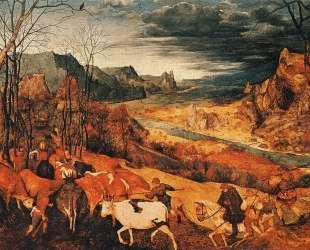 Возвращение стада (Осень) — Питер Брейгель Старший