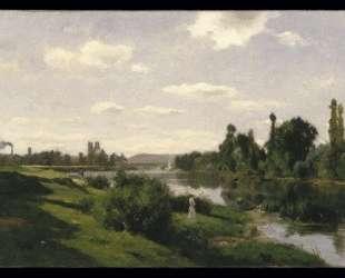 Река Сена в Манте — Шарль-Франсуа Добиньи