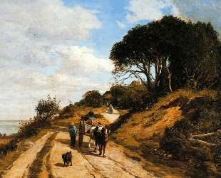 The Road from Trouville to Honfleur — Эжен Буден