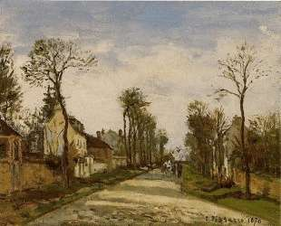 The Road to Versailles at Louveciennes — Камиль Писсарро