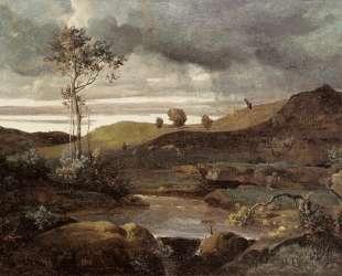 Римская Кампанья зимой — Камиль Коро
