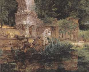 The Roman ruins in Schoenbrunn — Фердинанд Георг Вальдмюллер