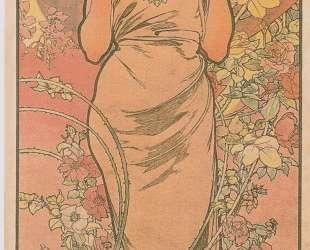 The rose — Альфонс Муха