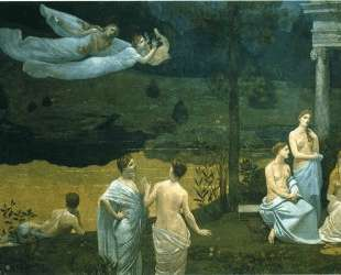 The Sacred Wood Cherished by the Arts and the Muses (detail) — Пьер Пюви де Шаванн
