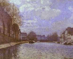 The Saint Martin Canal in Paris — Альфред Сислей