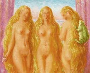 The sea of flames — Рене Магритт