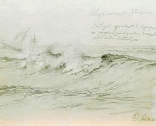 Море с кораблями — Фёдор Васильев