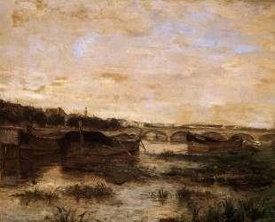 The Seine below the Pont d'Lena — Берта Моризо