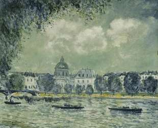 The Seine with the Institute of France — Альфред Сислей