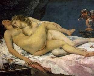 Спящие — Гюстав Курбе