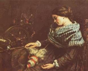 Спящая вышивальщица — Гюстав Курбе