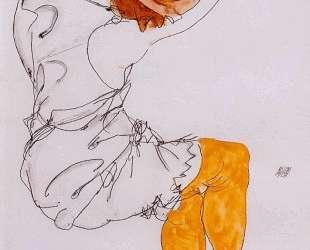 The sleeping girl — Эгон Шиле