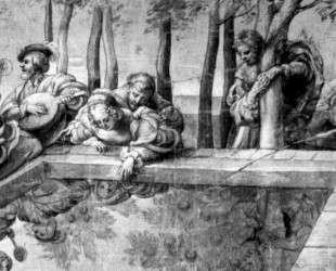 The Society near Fountain — Питер Пауль Рубенс