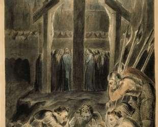 Воины метают жребий об одежде Христа — Уильям Блейк
