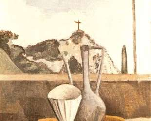 The Still life in front of cross on top of the mountain — Андре Дерен