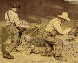 Каменотесы — Гюстав Курбе