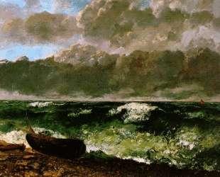 Бурное море — Гюстав Курбе
