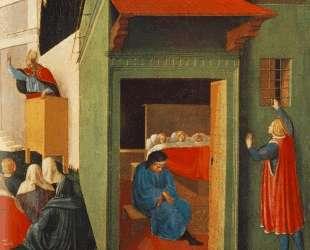 История Св. Николая: Предоставление приданого трем бедным девушкам — Фра Анджелико