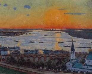The Sunset on Volga. Nizhny Novgorod — Константин Юон