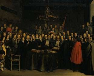 The Swearing of the Oath of Ratification of the Treaty of Munster — Герард Терборх