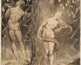 Искушение и грехопадение Евы — Уильям Блейк