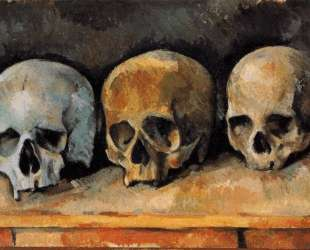 The Three Skulls — Поль Сезанн