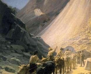 Перевозка мрамора в Карраре — Николай Ге