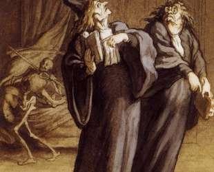 Два доктора и смерть — Оноре Домье