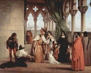 The Two Foscari: Francesco Foscari, Doge of Venice and his family — Франческо Хайес
