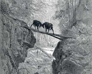 Два козла — Гюстав Доре