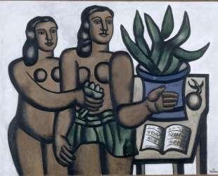 The two women in blue vase — Фернан Леже