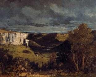 Долина Лу в грозовую погоду — Гюстав Курбе