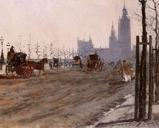 The Victoria Embankment, London — Джузеппе Де Ниттис
